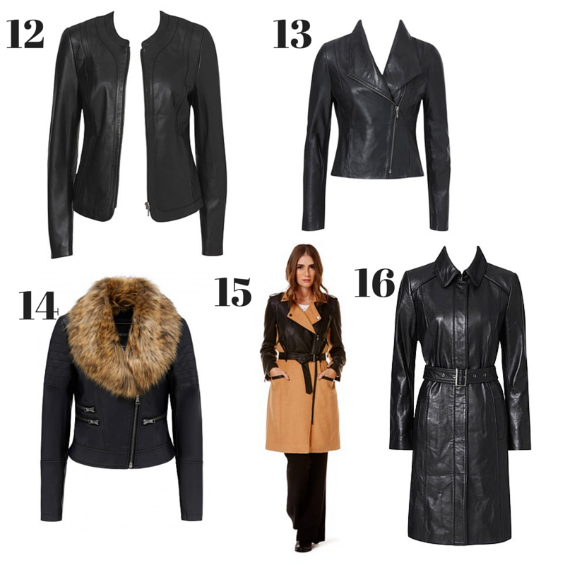 Leather & Faux Leather Winter Coats