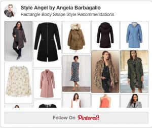 Rectangle Body Shape Winter Coats
