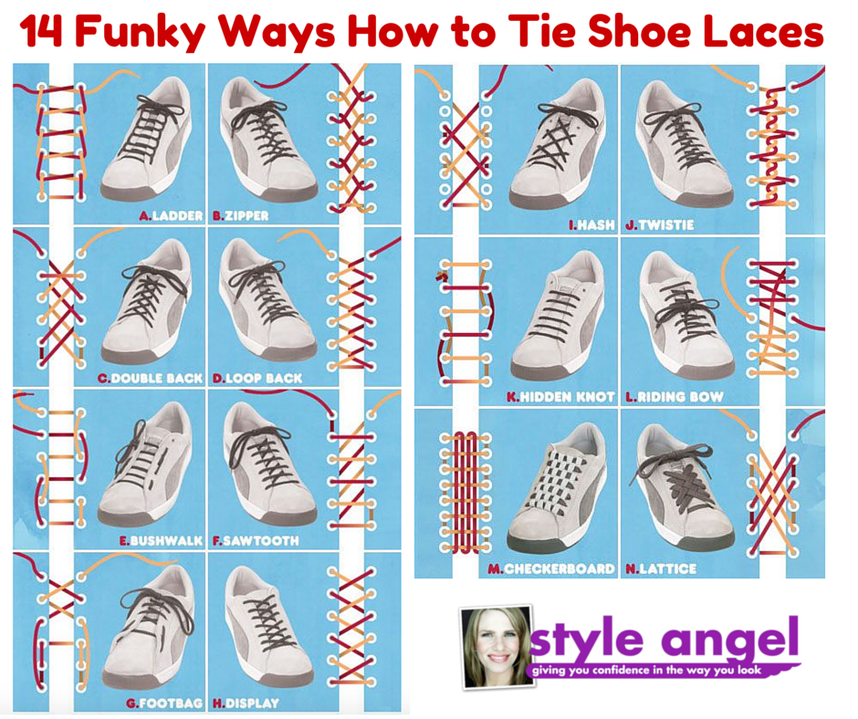 14 funky ways how to tie shoe laces style angel ccuart Images